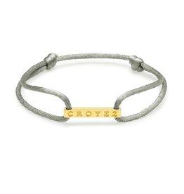 Croyez Croyez Satin Cord Silver Bar