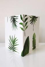 Botanische kaart - groene bladeren
