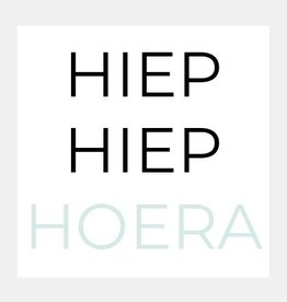 HIEP HIEP HOERA (mintgroen)