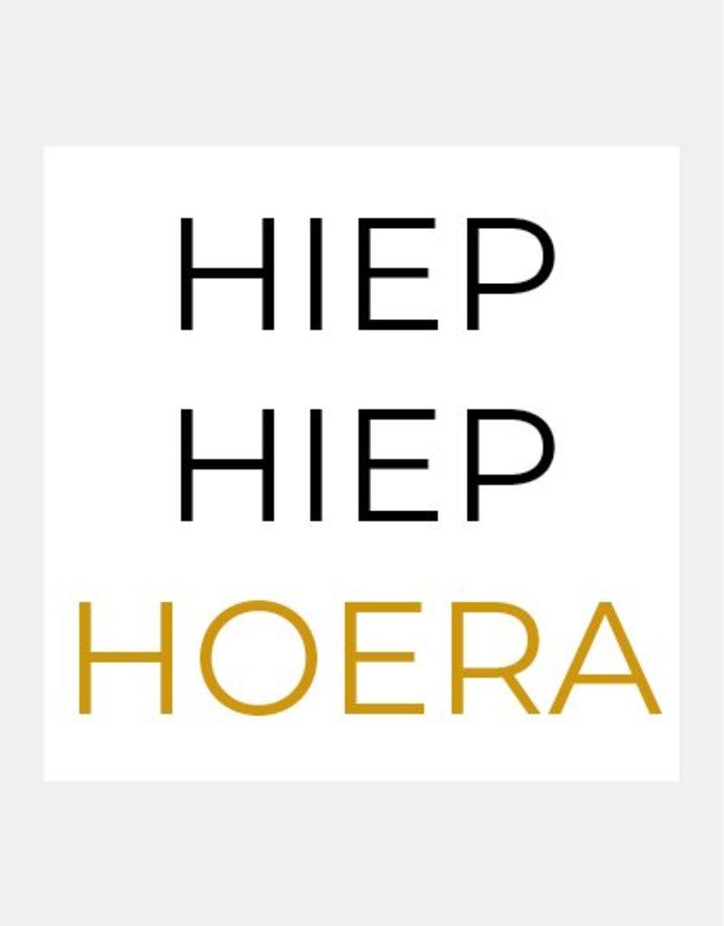 HIEP HIEP HOERA (geel)