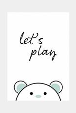 Let's play - mintgroen (A4/A3)