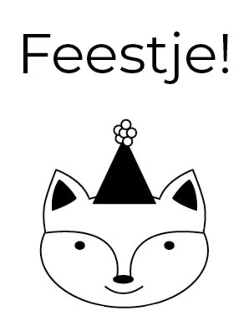 Kinderuitnodiging feestje - feest vosje (8 stuks)