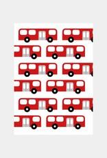 Kinderuitnodiging feestje bus  (8 stuks)