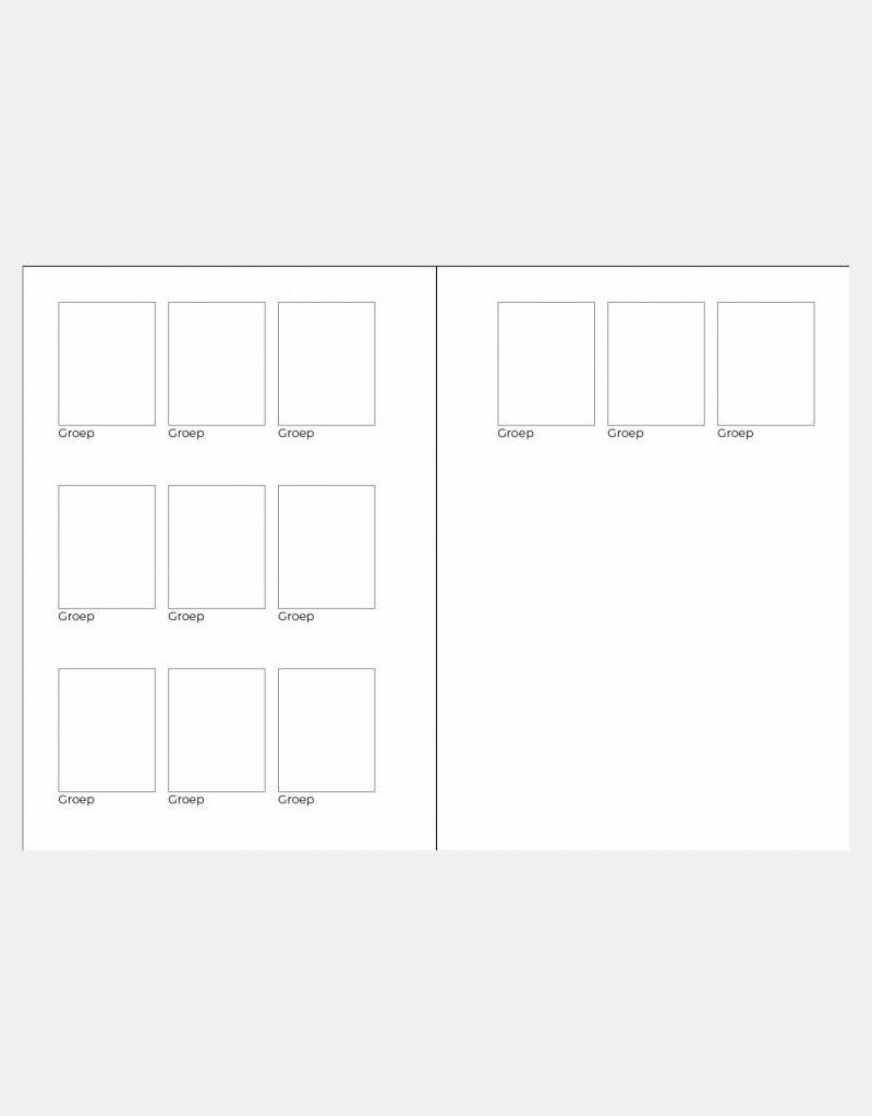 Schoolfotoboek zwart wit gestreept