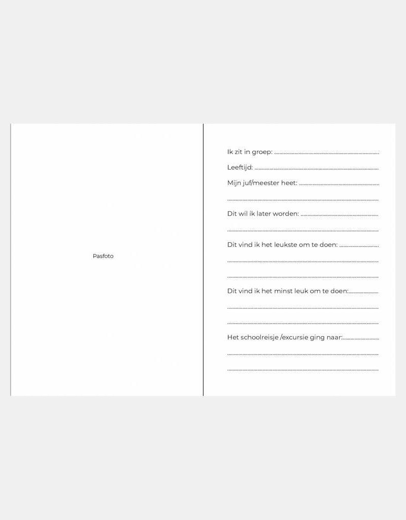 Schoolfotoboek ruitjes  (A5 formaat)