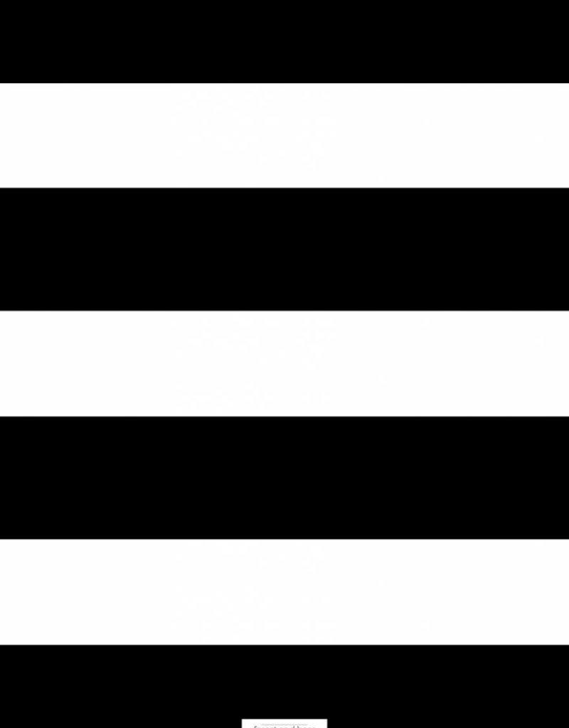 Wensenboekje (kraam / babyshower) -  zwart wit gestreept