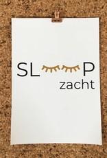 Slaap zacht poster - okergeel (A4/A3)