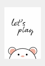 Let's play - roze  (A4/A3)