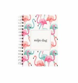 KDV / crèche / oppas / gastouder  boek (flamingo print)