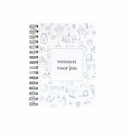 Wensenboekje (kraam / babyshower) -  doodle print