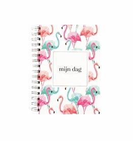 Wensenboekje (kraam / babyshower) -  flamingo print