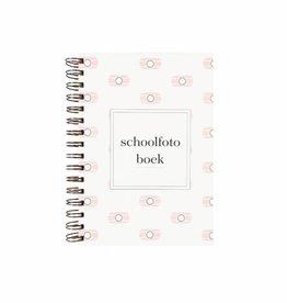 Schoolfotoboek camera print (roze)