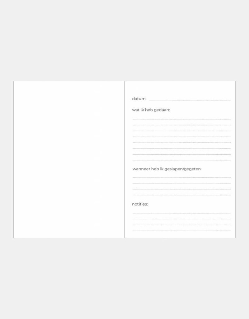 KDV / crèche / oppas / gastouder  boek (watermeloen print)