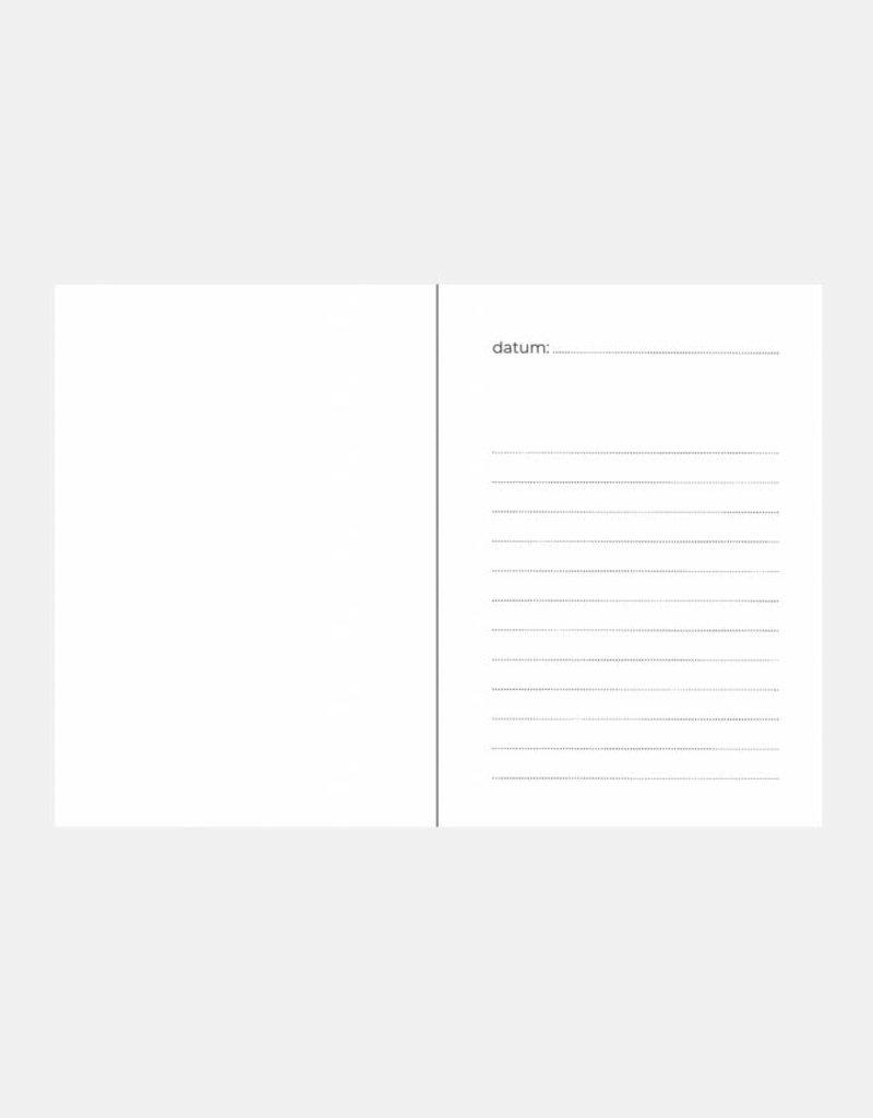 Uitsprakenboekje + eerste woordjes! (marmer print blauw)