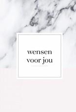 Wensenboekje (kraam / babyshower) -  marmer print roze