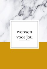 Wensenboekje (kraam / babyshower) -  marmer print okergeel