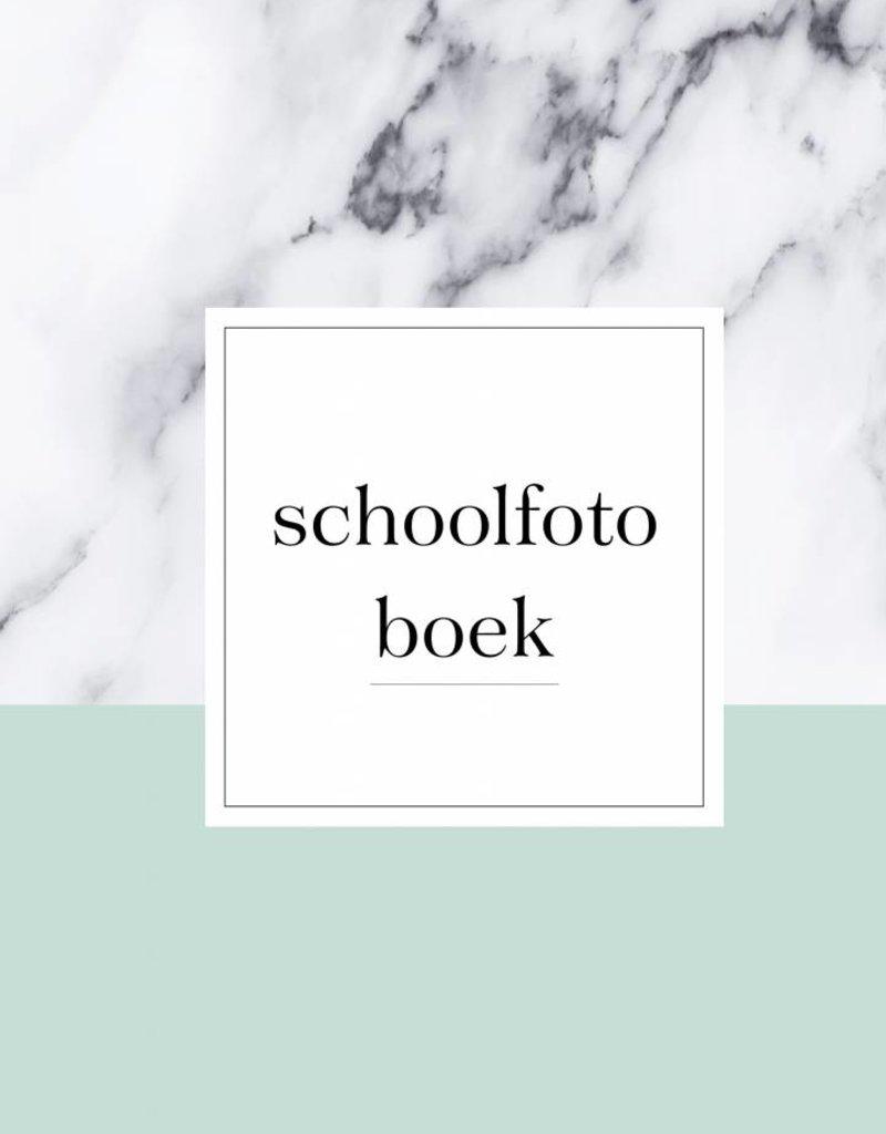 Schoolfotoboek marmer  (A5 formaat mint)