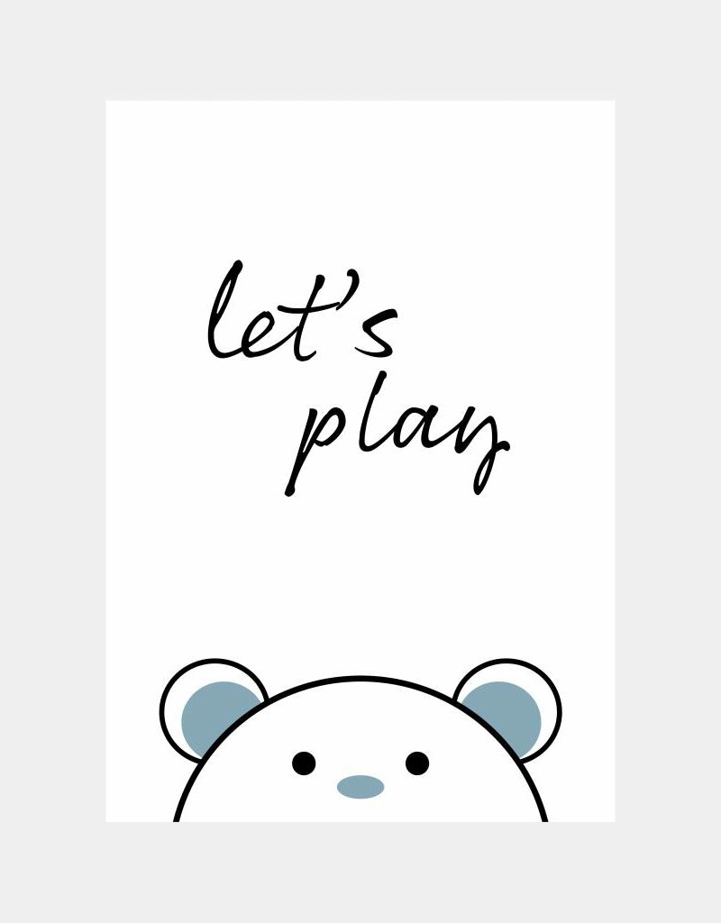 Let's play - blauw  (A4/A3)