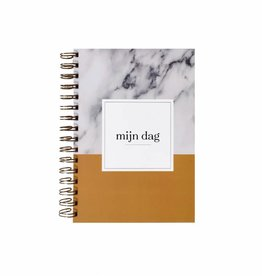 KDV / crèche / oppas / gastouder  boek (marmer  print  okergeel)