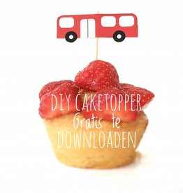 Cake topper bus