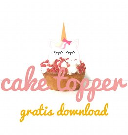 Cake topper - Unicorn