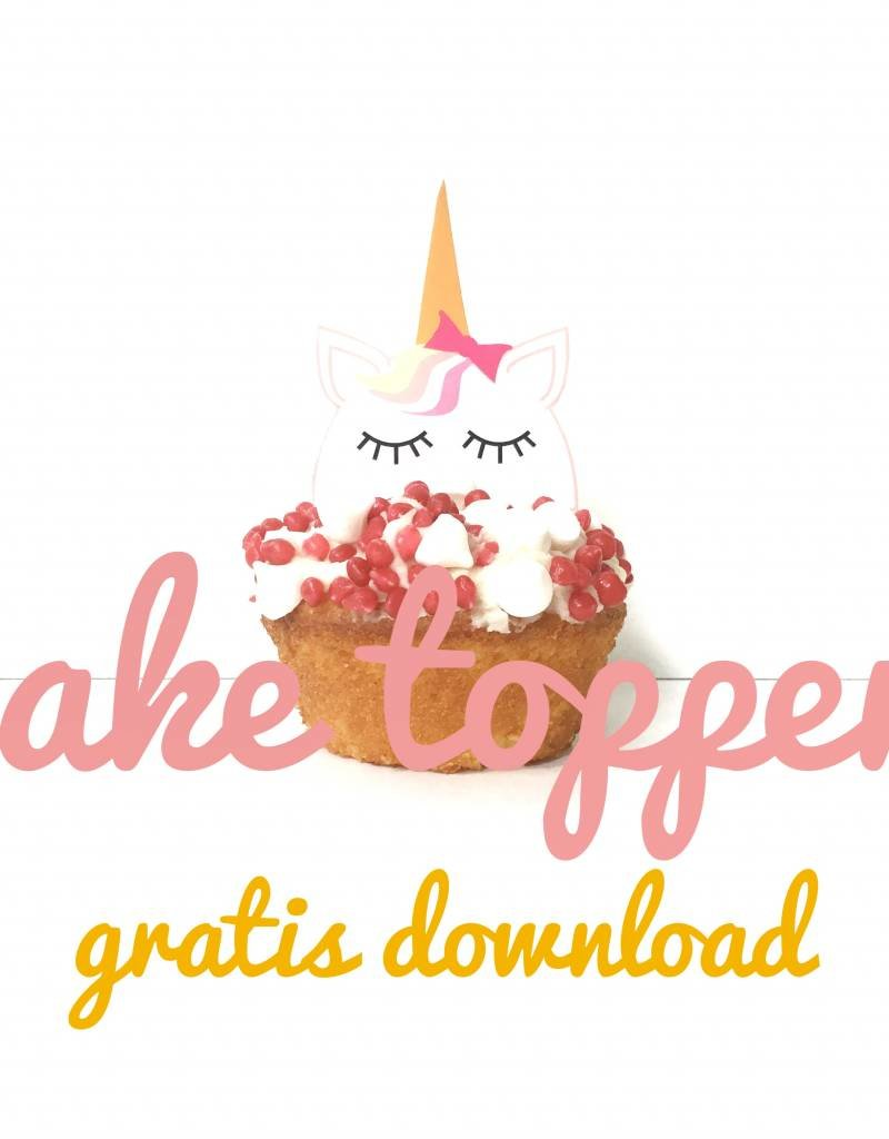Cake topper bus - Unicorn