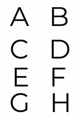 Naamposter met initiaal (naam/geboorte A4/A3)  Blauw