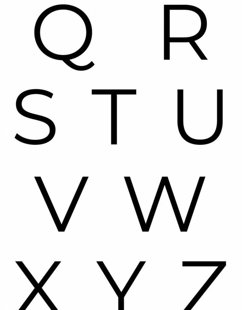 Naamposter met initiaal (naam/geboorte A4/A3)  Mintgroen