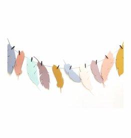 Meerdere kleuren | Slinger  Veertjes  (7 / 10  figuren)