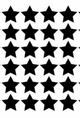 Meerdere kleuren | stickervel  sterren S