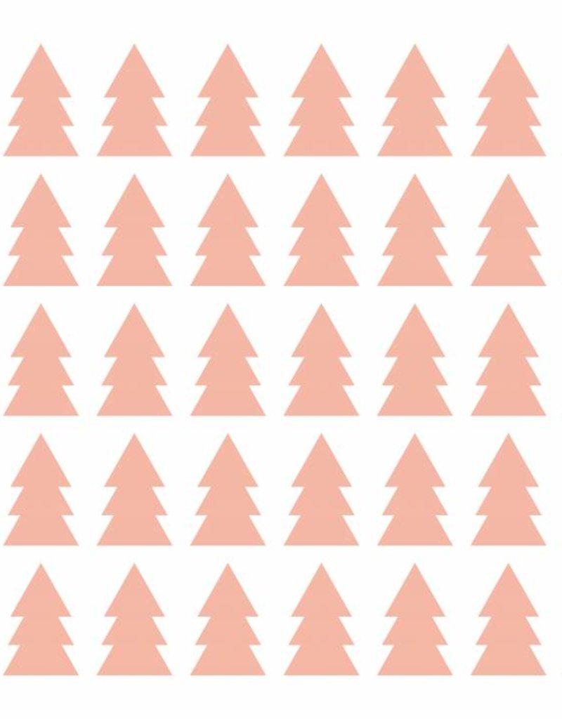 Meerdere kleuren   boompjes stickervel
