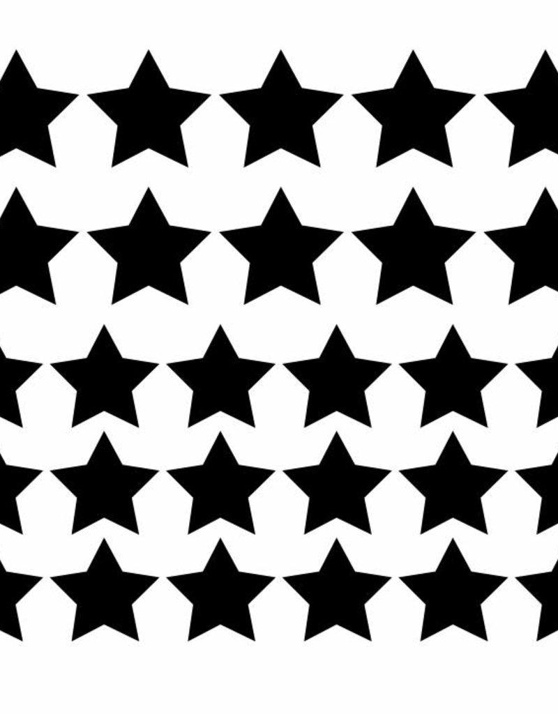 Meerdere kleuren | stickervel  sterren M