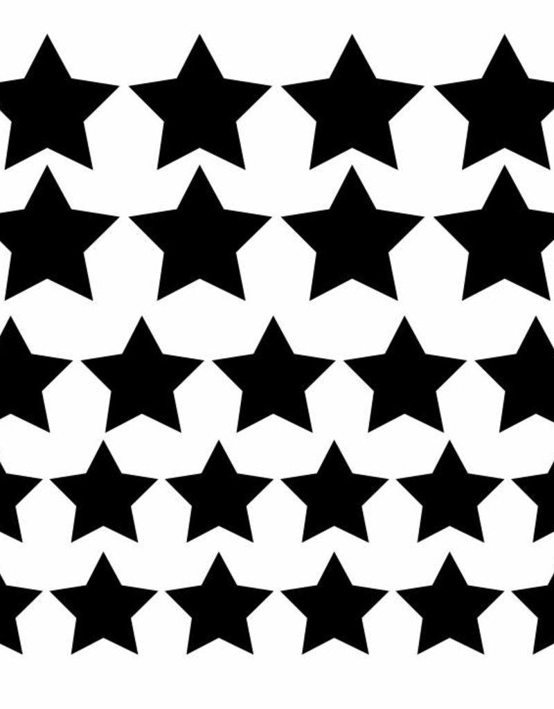 Meerdere kleuren | stickervel  sterren L