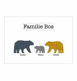 Familie poster beren  (A4/ A3 / Printable)