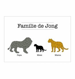 Familie poster Leeuwen  (A4 / A3 / Printable)