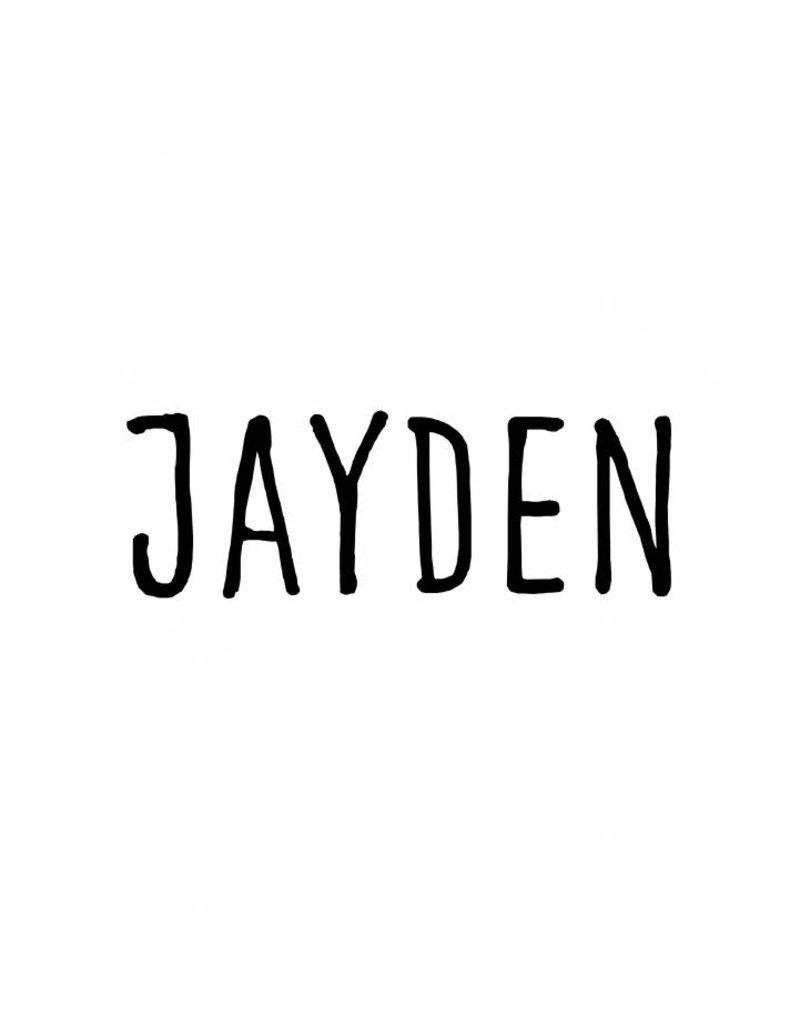 Meerdere kleuren | Naamsticker JAYDEN