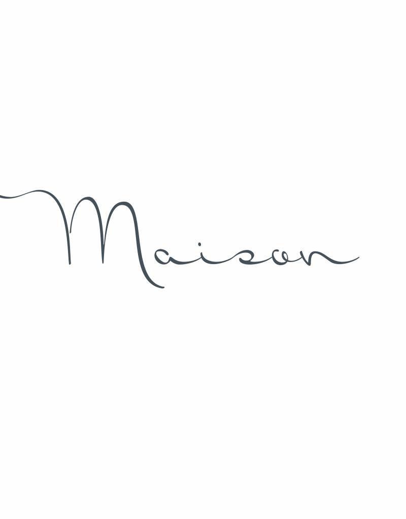 Meerdere kleuren | Naamsticker MAISON