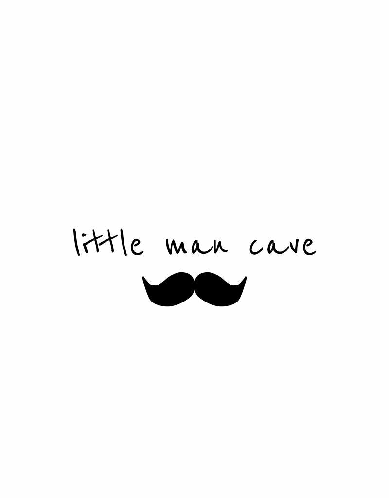 little man cave -  muursticker