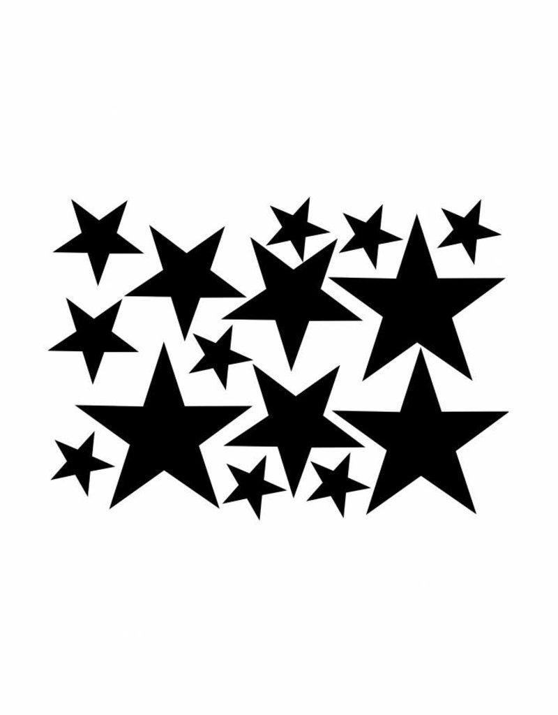 Meerdere kleuren | stickervel  stars L