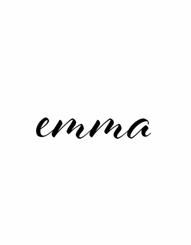 Meerdere kleuren | Naamsticker EMMA