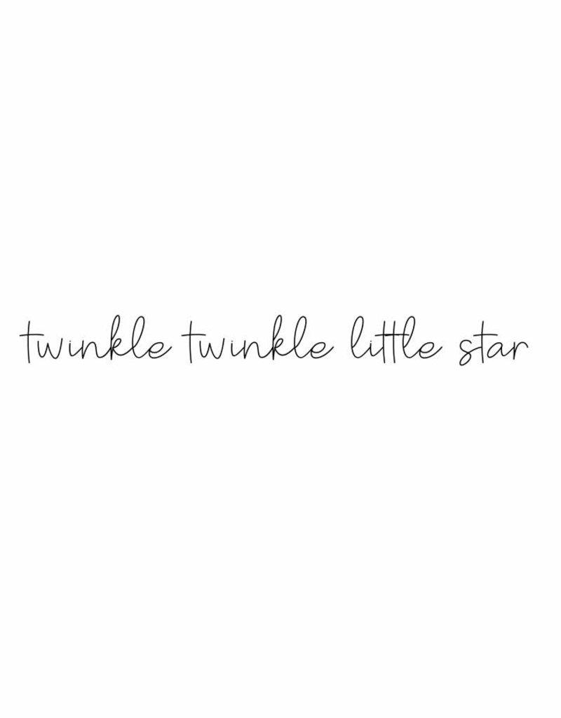 twinkle twinkle little star-  muursticker