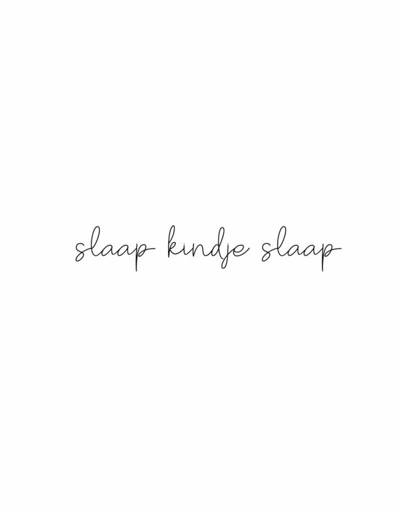 slaap kindje slaap - muursticker