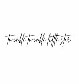 twinkle twinkle little star - muursticker