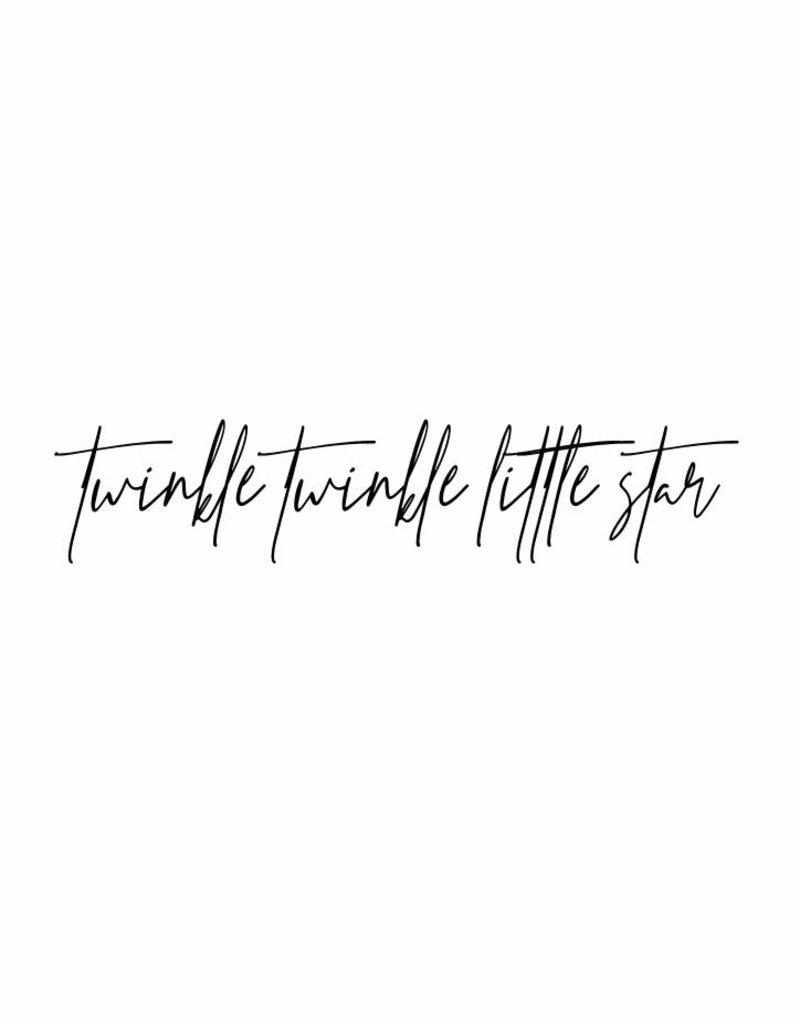 twinkle twinkle little star - muursticker