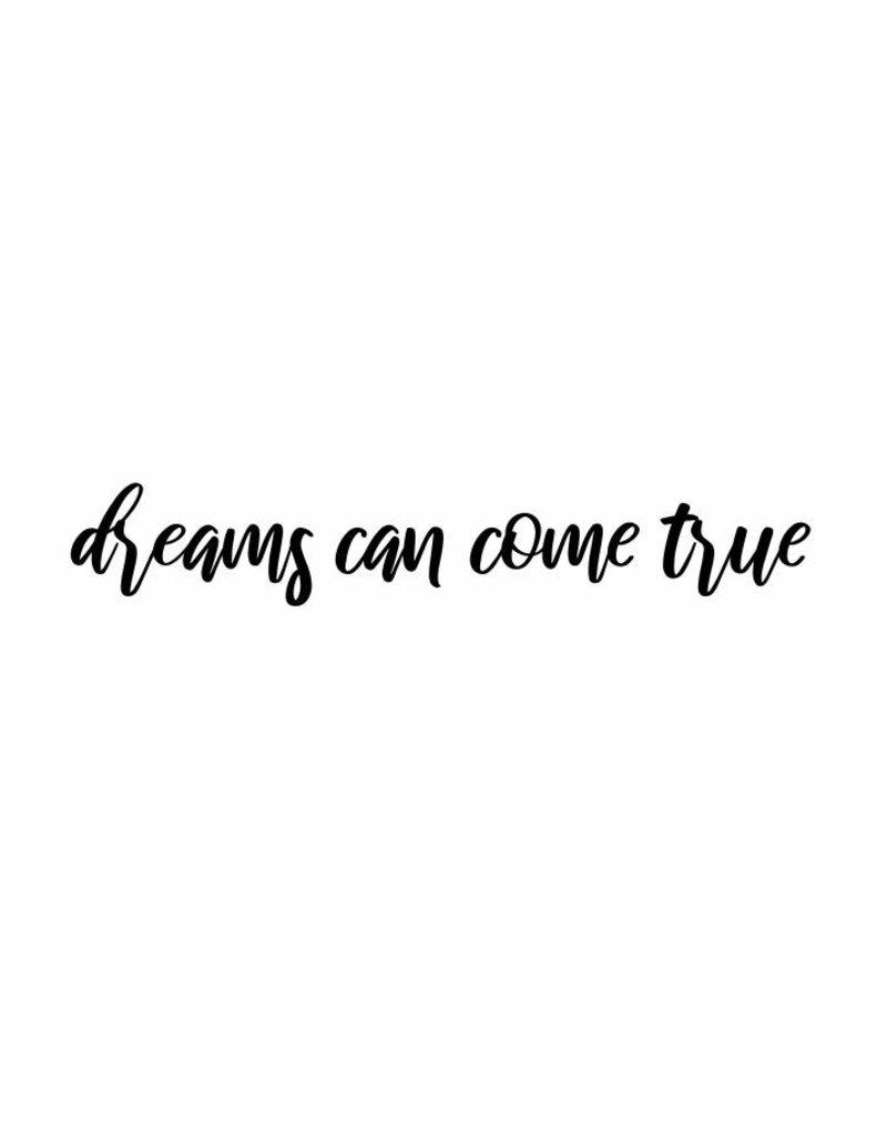 dreams can come true - muursticker