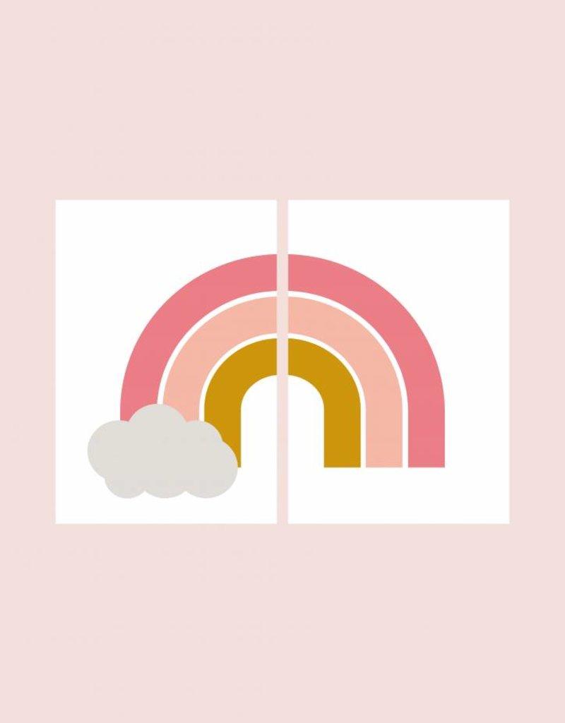 Regenboog posterset -  2 stuks  (A4/A3)