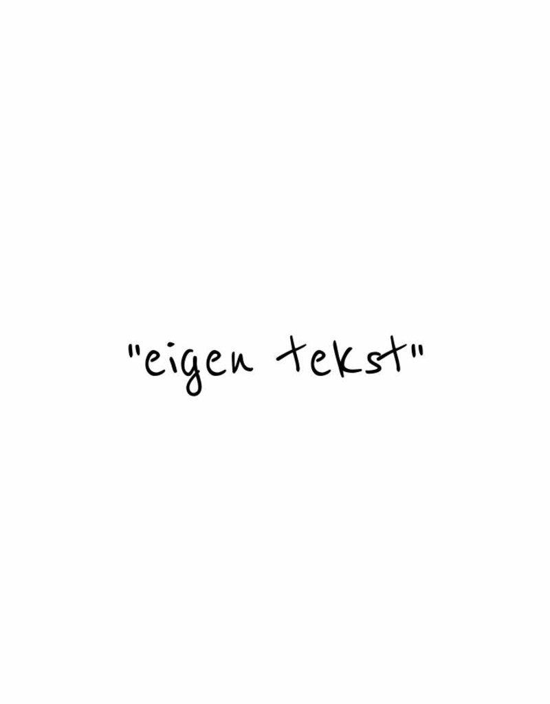 """ eigen tekst "" -  muursticker   SMALL"