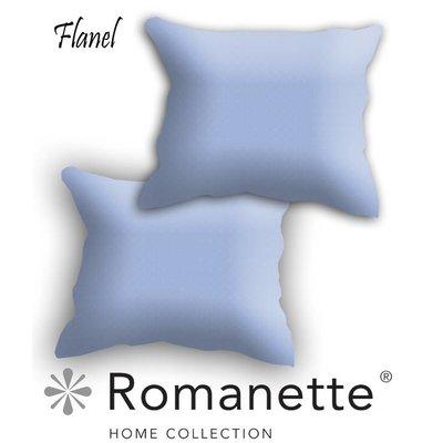 Romanette Kussen sloop Flanel Romanette Bleu Set 2 stuks