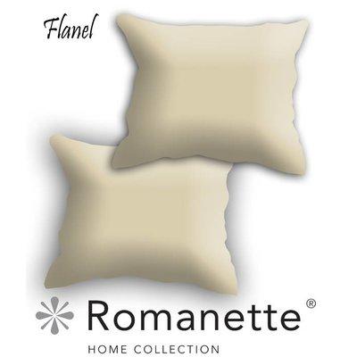Romanette Kussen sloop Flanel Romanette Camel Set 2 Stuks