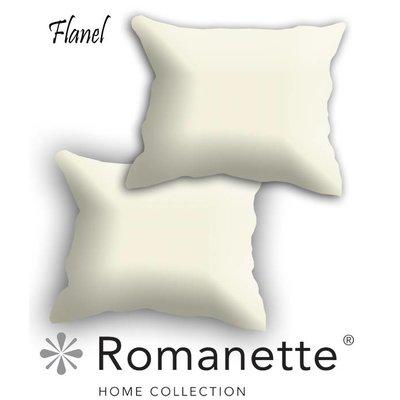 Romanette Kussen sloop Flanel Romanette Ivoor set 2 stuks